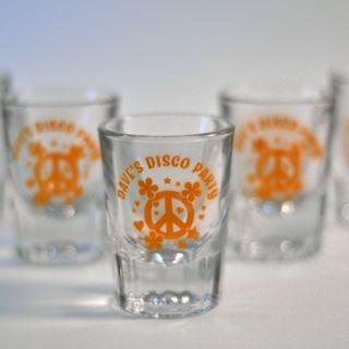 Personalized Screen Printed Bar Shot Glass