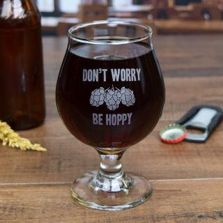 Personalized Engraved Groomsman Belgian Beer Glass