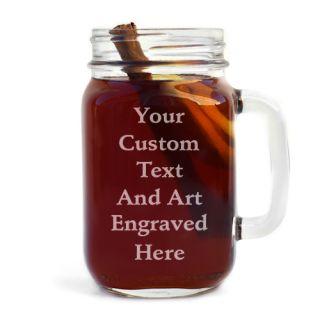 Personalized Engraved Handled Mason Jar