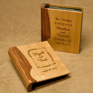 Personalized Engraved Wood Photo Album