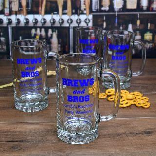 Personalized Screen Printed Beer Mug