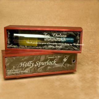 Personalized Engraved Wine Bottle Box